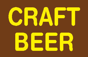 Craft Beer Hanging Sign-Ceiling Dangler