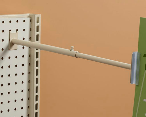 Aisle Invader Sign Holder for Pegboard-Telescopic