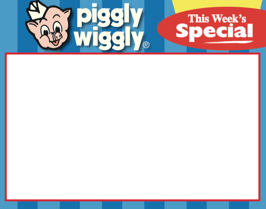 Piggly Wiggly Supermarket Special Shelf Signs- 5.5 x 7-100 signs