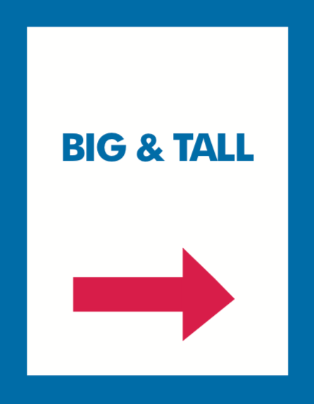 Thrift or Retail Floor Stand Stanchion Signs-Big & Tall