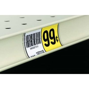 Price Channel Label Holders-Backers for Price Tags or Labels- 3 L x 1.25 H -1000 pieces