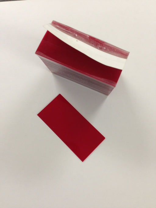 "Protective Pricing Cover Red Tinted -2.5""L x 1.25""H -1000 pieces"