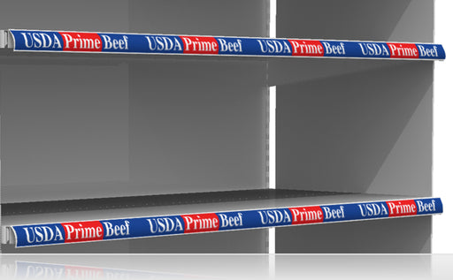 "USDA Prime Beef Price Channel Shelf Molding Strips 12""W x 1.25""H -20 pieces"