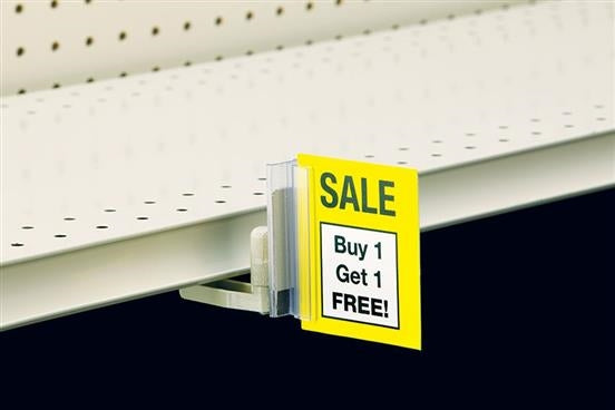 Aisle Invader Aisle Violators Blades Sign Holders-Magnetic- 2 pieces