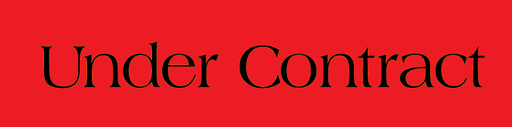 "Under Contract Real Estate Sign Riders-Black & Red 24 ""x 6"""