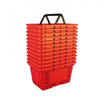 Shopping Baskets Large-Red-set of 12
