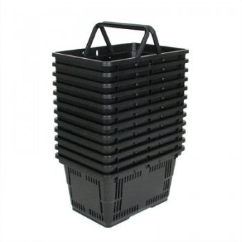 Shopping Baskets Large-Black-set of 12