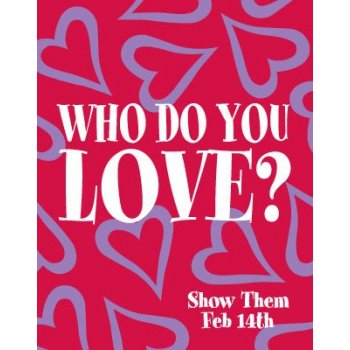 "Valentine's Day Poster-Floor Stand Stanchion Sign-22"" W x 28"" H"