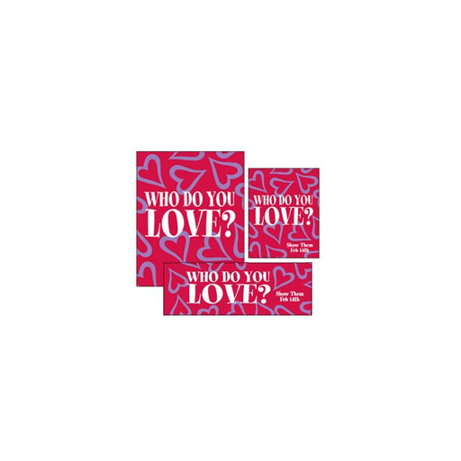 Valentine's Day Sale Event Retail Point of Purchase Sign Kit- 20 pieces