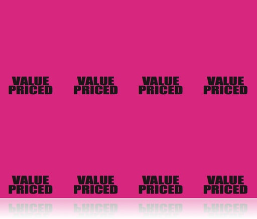 Value Priced Fluorescent Pink Laser Compatible Shelf Signs-800 signs