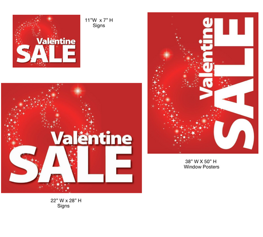 Valentine Sale Event Sign Kit -14 pieces
