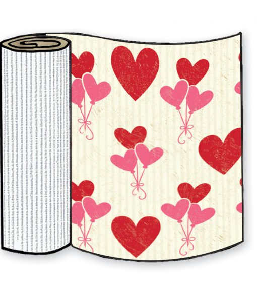 Valentine's Day Hearts Corrugated Base Pallet Wrap-4 Rolls