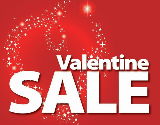 "Valentine Sale Display Signs 7"" X 11""- 10 signs"