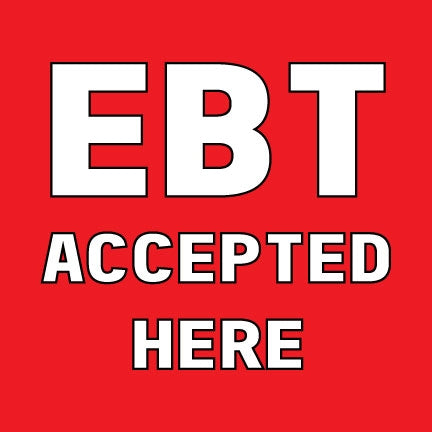 EBT Accepted Here Window Door Decals-5 pieces