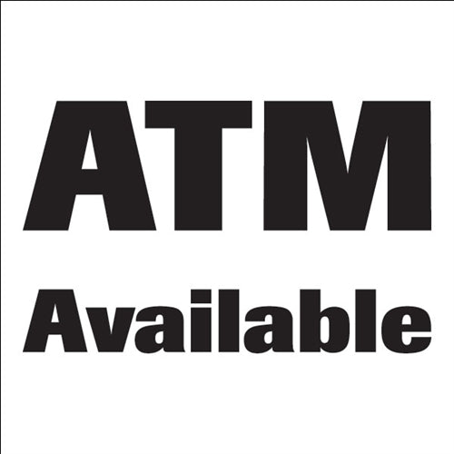 ATM Available Window Door Decals-5 pieces