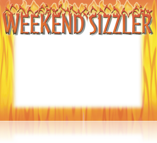 Weekend Sizzler Shelf Signs Laser Compatible-100 signs