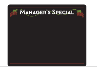 Write On Wipe Off Price Board- Manager's Special