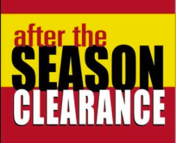 "After the Season Sale Window Signs Poster-48"" W x 36"" H"