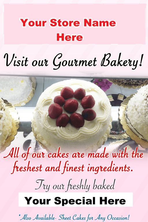 "Bakery Window Signs Posters-36""W x 48""H"