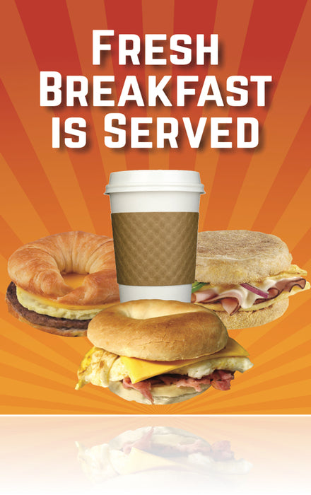 "Breakfast is Served Window Signs Poster-36""W x 48""H"