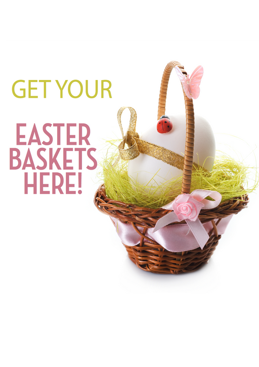 Easter Basket Window Sign Poster