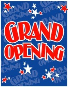 "Grand Opening Star Themed Poster- 40""W x 50""H"