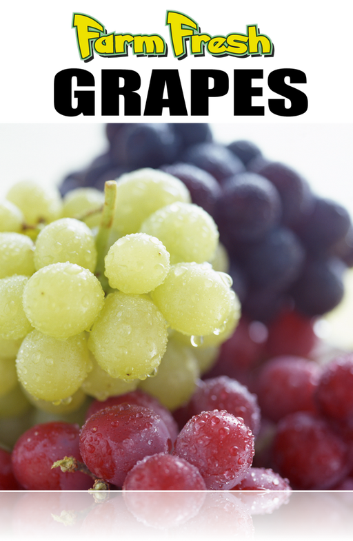 "Produce- Grapes Window Signs Poster- 36""W x 48""H"