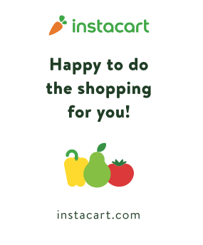 "instacart Grocery Delivery Window Sign Poster-36""W x 48""H-Shopping"