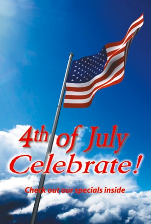 "4th of July Window Sign Posters -36"" x 48"""