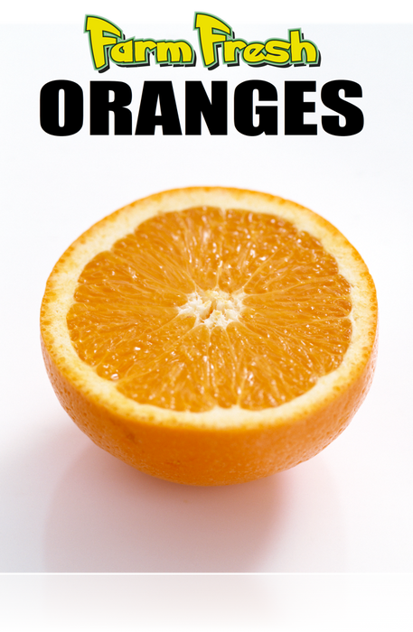 "Produce-Oranges Poster- Window Sign-36""w x 48""H"