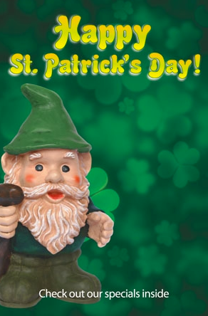 "St. Patrick's Day Sign Posters -36"" x 48"""