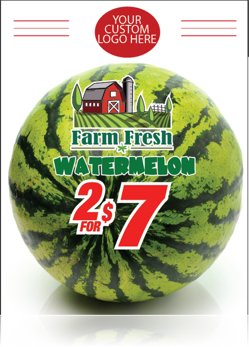 "Watermelon Window Signs Poster-36""W x 48""H"