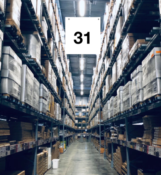 Warehouse Aisle Hanging Signs Large Aisle Markers 31 Thru