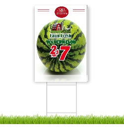 Watermelon Lawn-Yard Signs for Supermarkets