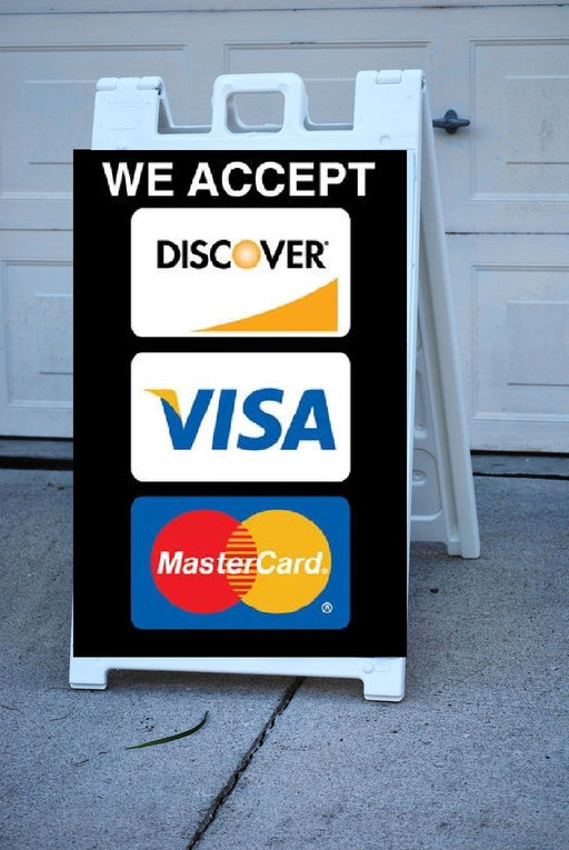 Signicade® We Accept Credit Cards A Frame Sign Insert