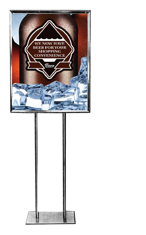 "We Now Have Beer Floor Stand Stanchion Signs-22"" W x 28"" H"
