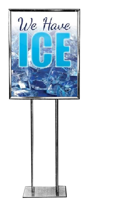 We Have Ice Floor Stand Stanchion Sign