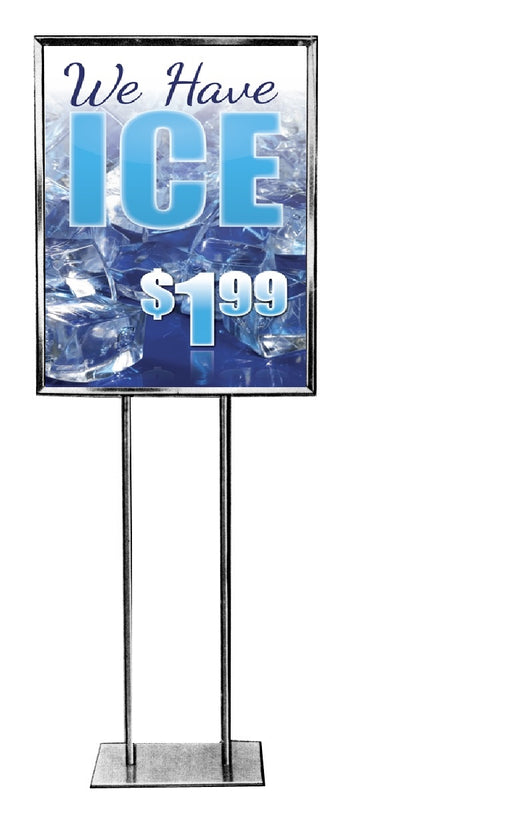We Have Ice Floor Stand Stanchion Sign with Custom Price