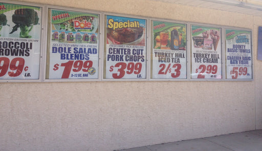 custom printed window signs price item for supermarkets c stores