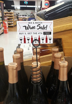 Wine Bottle Neck Spiral Sign Holders