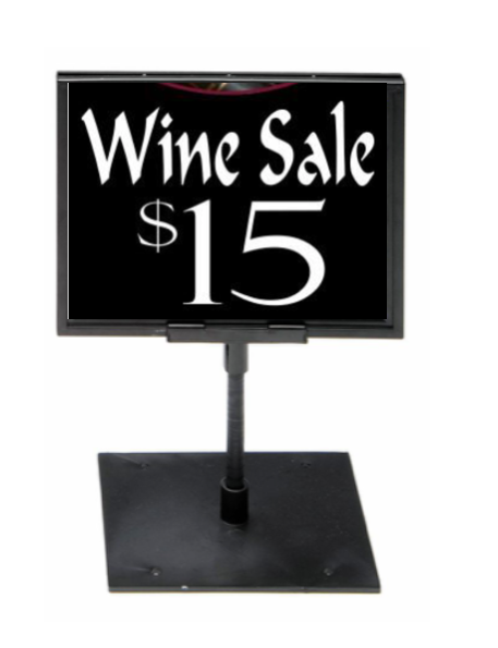 Wine Store Sign Holder Black Frame-8.5 x 11