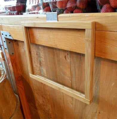Orchard Bin or Produce Table Hanging Wood Sign Holder