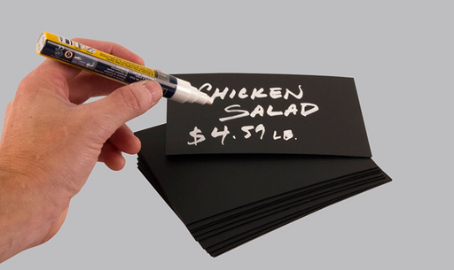 Write On Wipe Off Black Chalkboard Price Cards