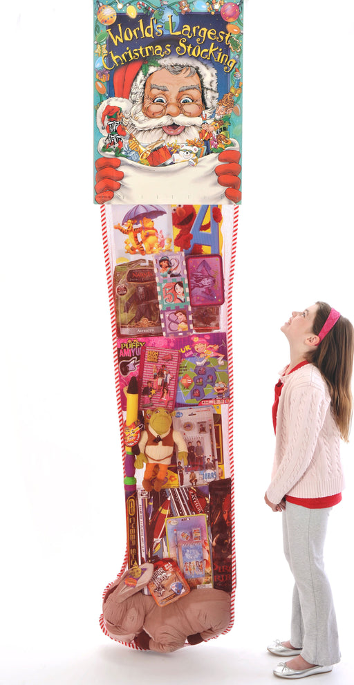 Giant Christmas Toy Filled Stocking Sweepstakes-Contest Giveaway- Promotional Item-8'