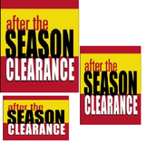 after the season sale retail promotional sale event sign kit