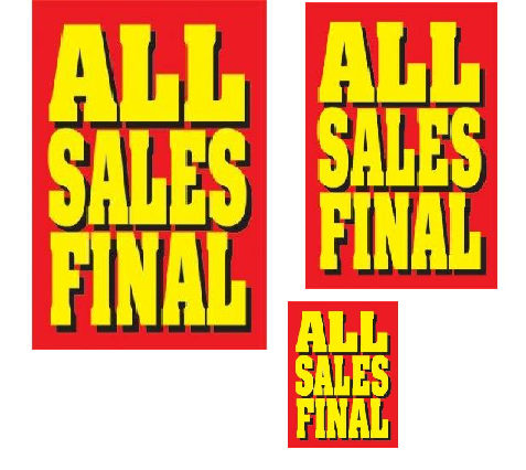 all sales final retail promotional sale event sign kit store closing