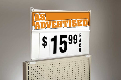 Large Spiral  Sign Board Header As Advertised Insert-6""