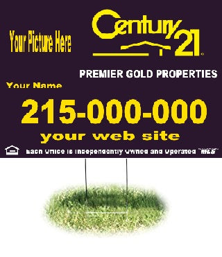 "Lawn-Yard-Bandit Signs-Century 21 Real Estate- 24 ""x 18"""