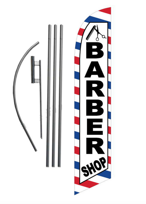 Barber Shop Feather Flag Kit