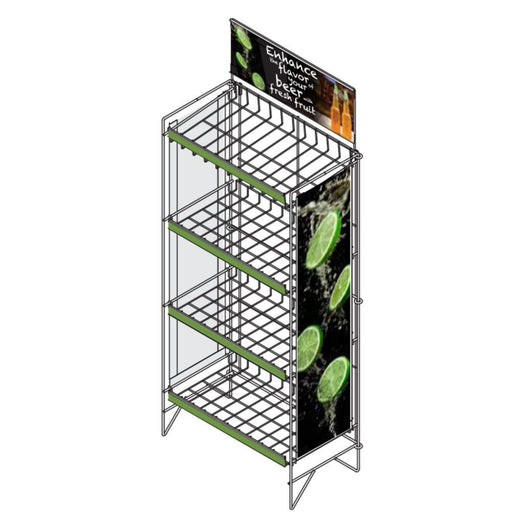 "Beer & Fruit Display Rack with Graphics - 48""h x 22 1/2""w x 12""d"